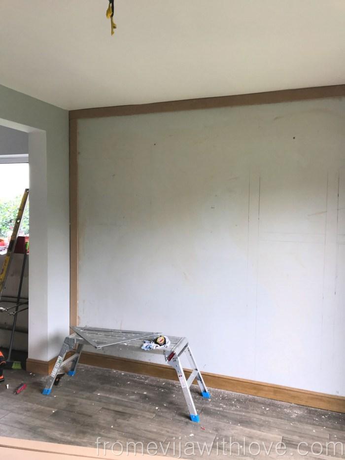 DIY Statement Panel Wall Farrow and Ball