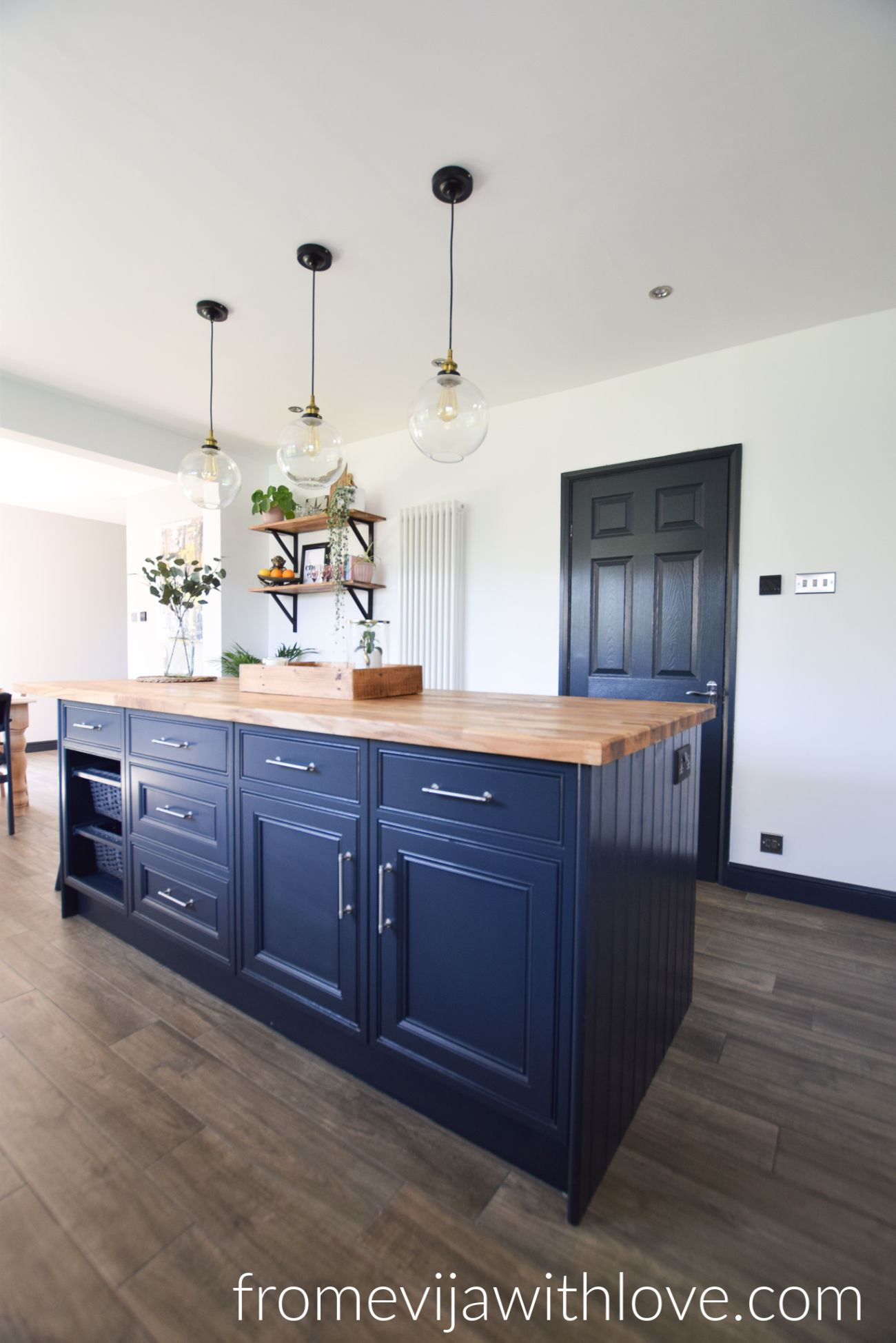 Farrow And Ball Railings Paint before & after: our diy kitchen renovation reveal - from