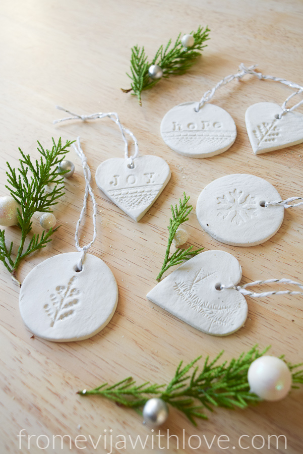 Christmas Ornaments made easy using air clay