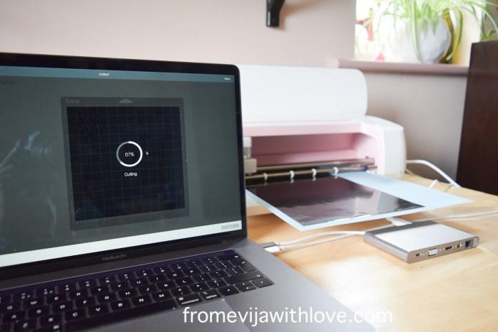 cricut maker and macbook pro project