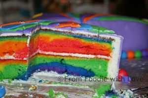 Butterfly Rainbow Cake