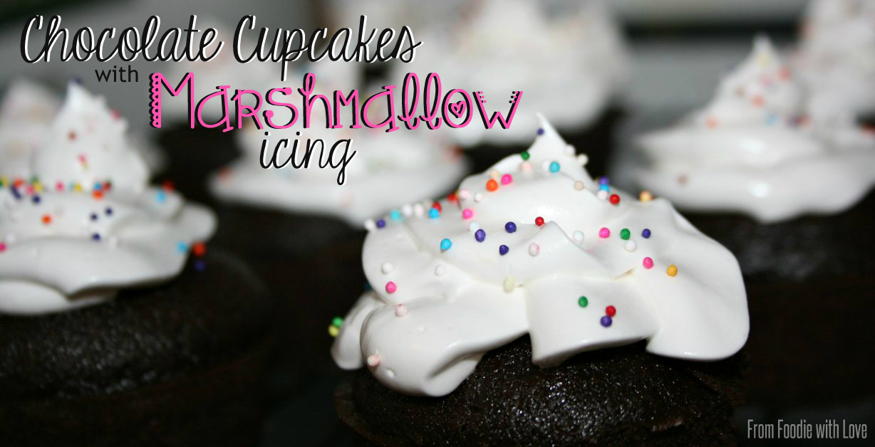Chocolate Cupcakes with Marshmallow Icing