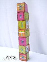 Never Stop Believing!-Standing Baby Block Inspiration Tower-The perfect gift