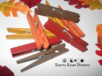 Distressed Fall Clothespins