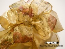 Gold Heirloom Decorative Bow