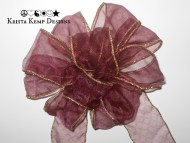 Sheer Purple Decorative Bow
