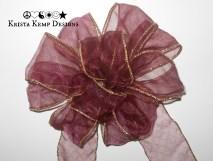 Sheer Purple Decorative Bow