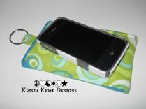 Retro Circles Fabric iPhone Case
