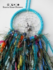 Beachy Sea Turtle Rear View Mirror Dream Catcher-The perfect addition for your ride!
