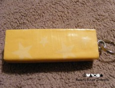 Yellow Star Jenga Block Keychain