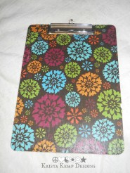 Floral Upcycled Decorative Clipboard-perfect for displaying artwork