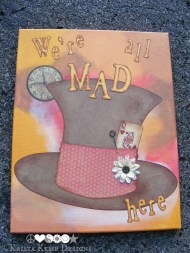 Mad Hatter Canvas-Who doesn't love Alice in Wonderland, right?!
