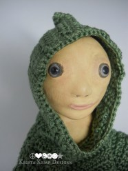 This is Powder. He is a one of a kind polymer clay art doll looking for a new home.