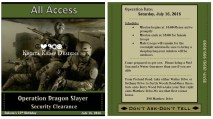 Custom Printable Military Ops VIP Pass Party Invitations