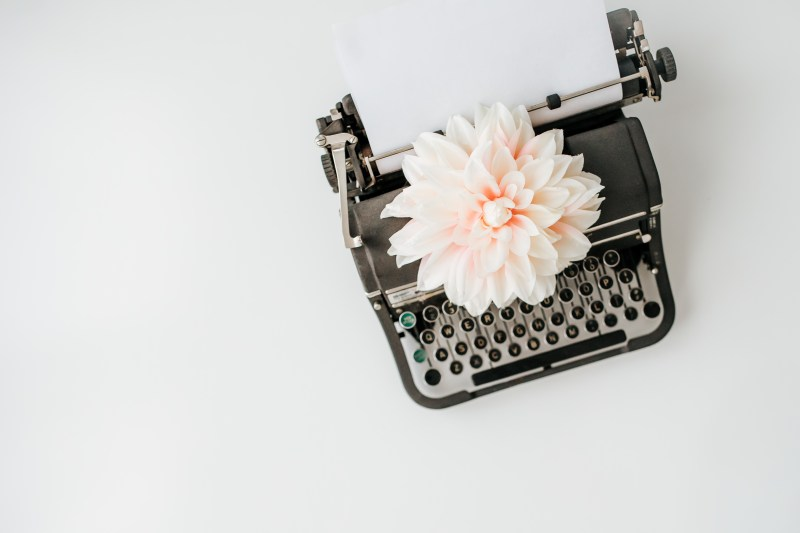 old fashioned type writer