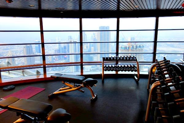 The gym in Burj Khalifa