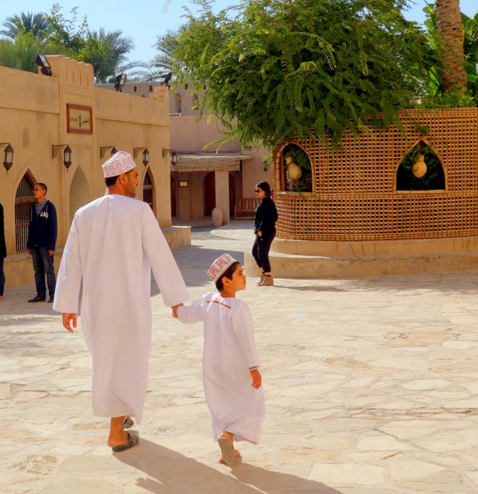 Father and Son in Oman