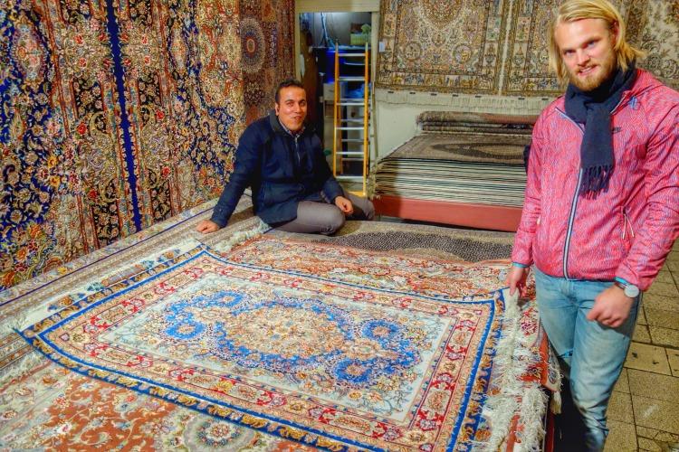 Persian carpet from Kashan