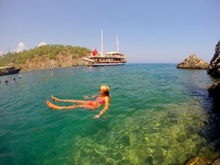 Swimming in turkey antalya