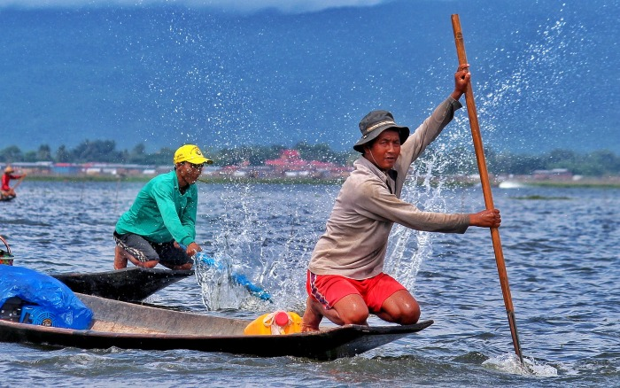 Fishermen inle lake