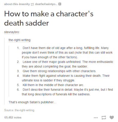 How to Make a Character's Death Sadder