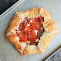 Heirloom Tomato and Goat Cheese Galette