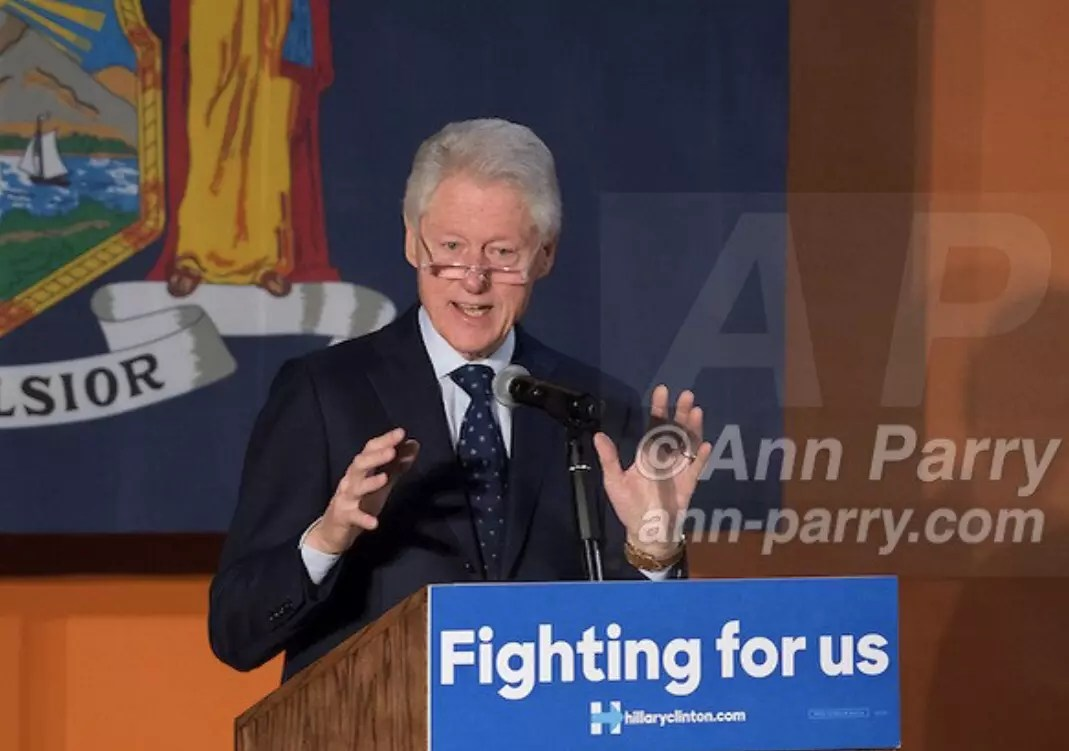 Bill Clinton Campaigns for Hillary Clinton in Elmont, NY