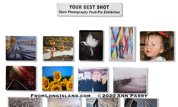 Huntington, New York, U.S. February 29, 2020. Reception at fotofoto gallery for its Your Best Shot Open Photography push-pin exhibition.