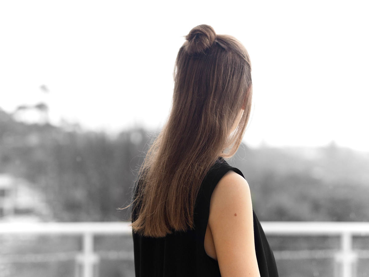 Half Up Topknot hairstyle