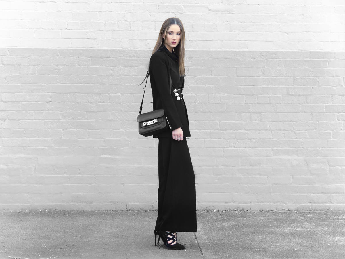 proenza schouler ps11 mini outfit black