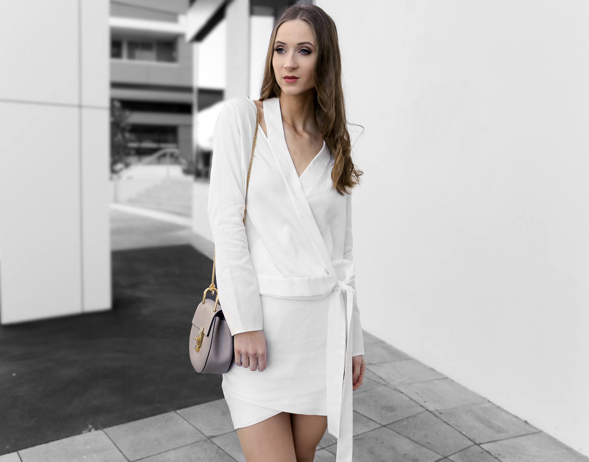 Isla White Light Top Fission Skirt all white outfit