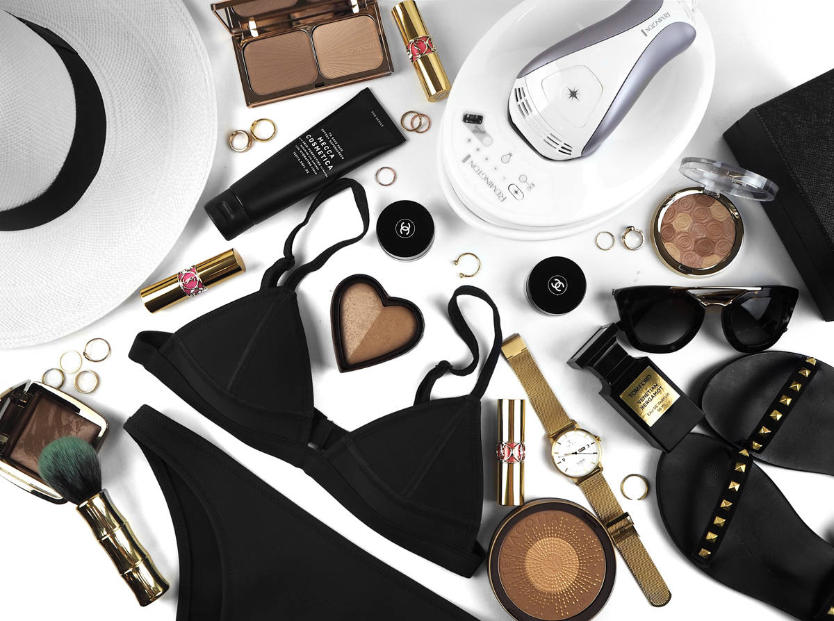How To: Your Smoothest Summer Skin Yet Flatlay