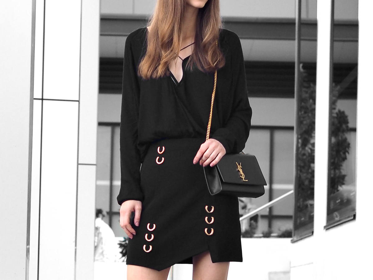 Best Statement skirts fashion blogger ysl bag