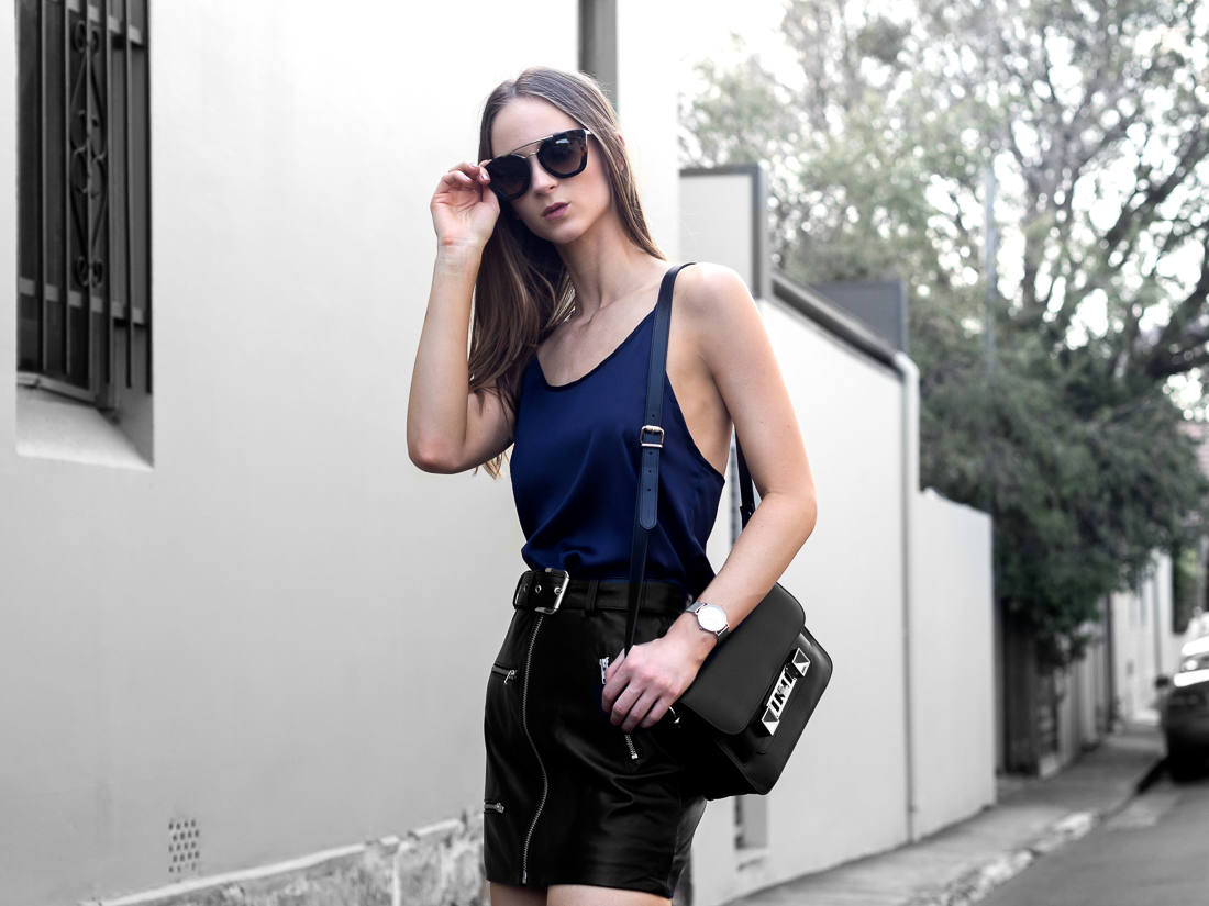Leather Skirt proenza scholar PS11 Mini Bag outfit
