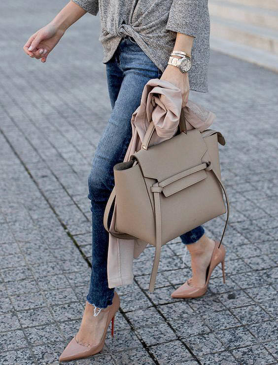 Celine Tie Bag outfit street style