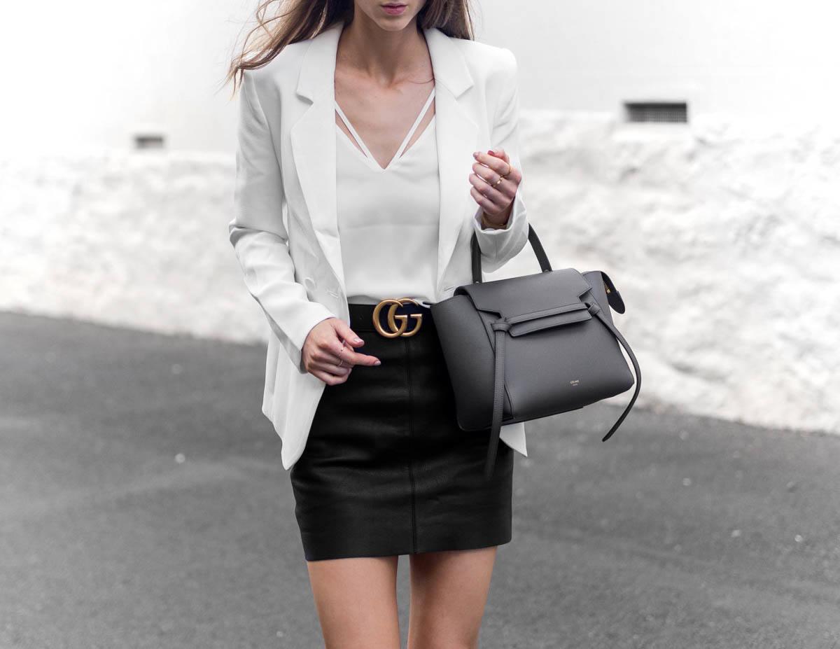 Celine Micro Belt Bag Outfit Gucci Belt Street Style