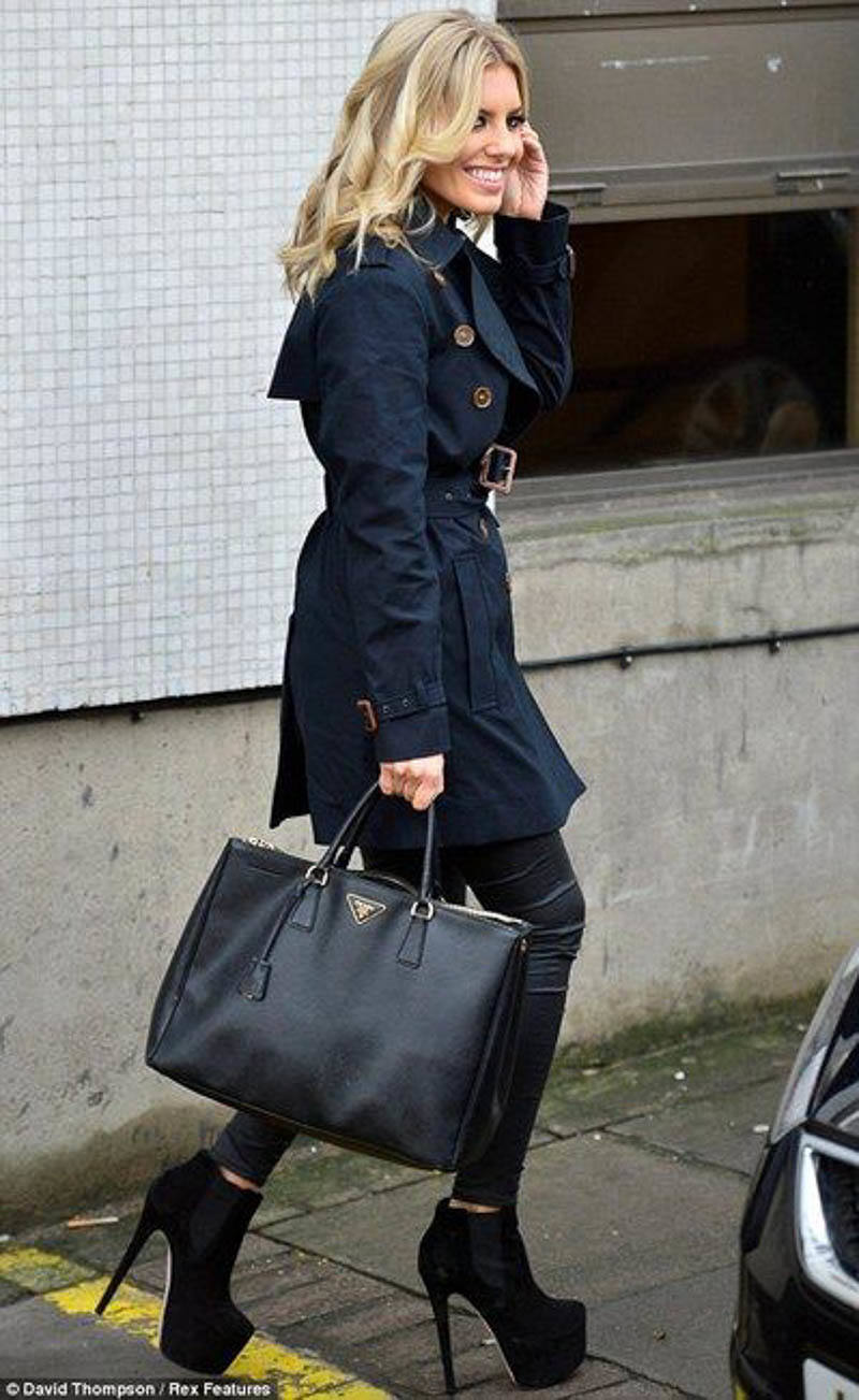 Prada Saffiano Galleria Bag Street Style Outfit Celebrity
