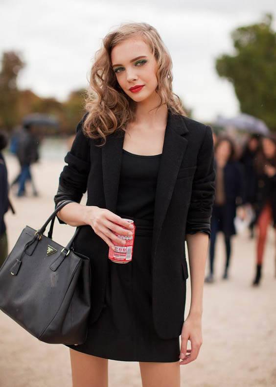 Prada Galleria bag street style outfit