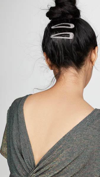 Kitsch Rhinestone Snap Hair Clip