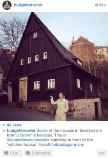 A casa da bruxa malvada em Bautzen, Alemanha