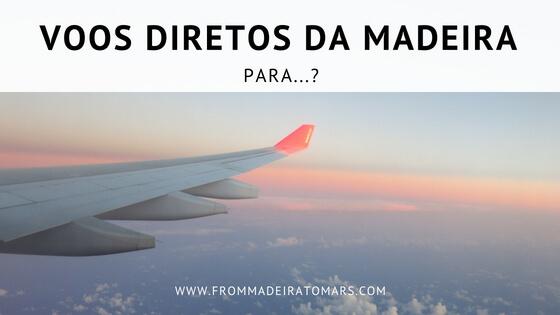VOOS DIRETOS DA MADEIRA