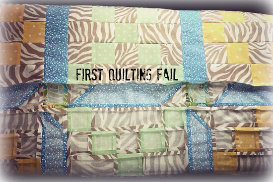 First Quilting Fail