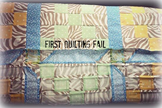 First Quilting Fail