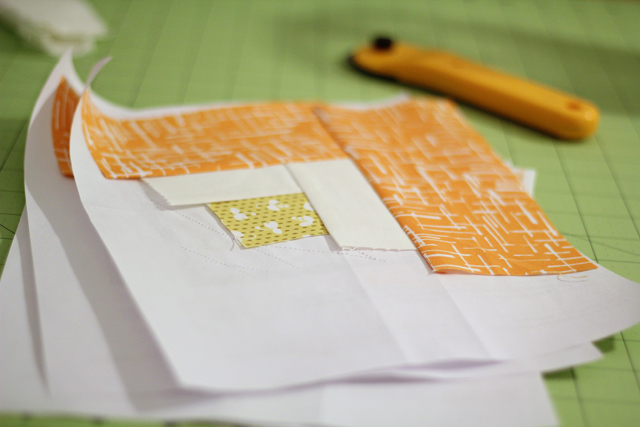 Madrona Road Pillow (paper piecing) - from Marta with Love