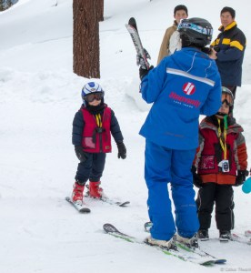 Colin at Ski School