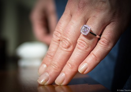 Maureen's new Engagement ring - 10 Years!