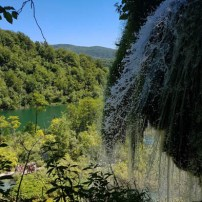 Plitvice Lakes waterfall