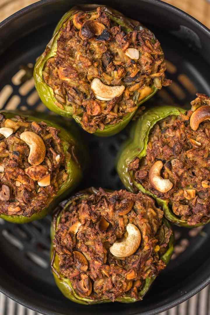 Curried lentil stuffed Peppers-Ninja Foodi