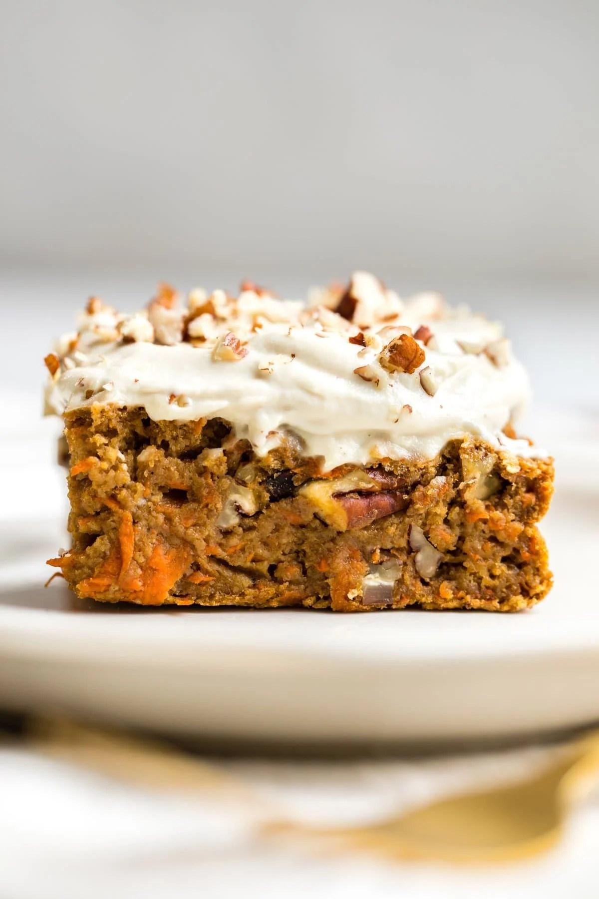 Healthy Carrot Cake Gluten Free Amp Vegan From My Bowl