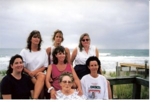 We lost Mom over ten years ago, and one sister is missing from this photo. Insert a sister-in-law, and stir for instant fun.